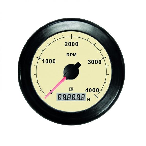 0 - 4000 rpm Kierroslukumittari/ tuntilaskuri 12/24V