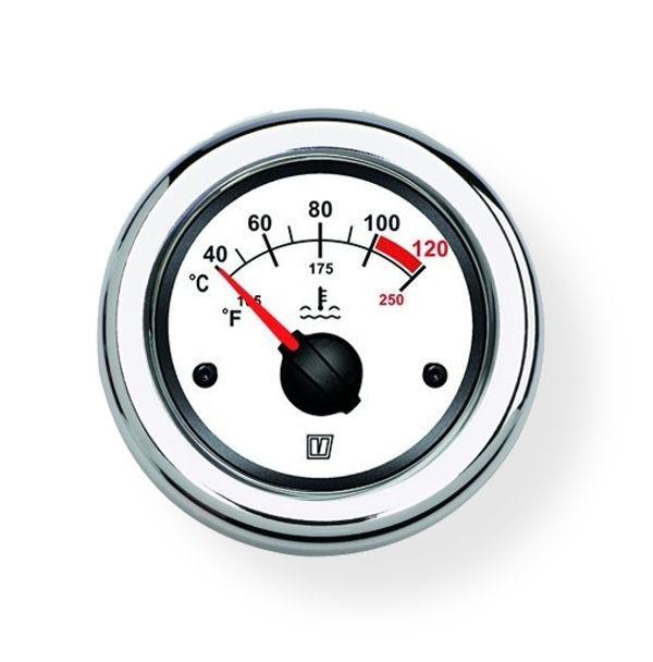 Lämpötilamittari vedelle 12/24 V (40-120°C)  Ø 52