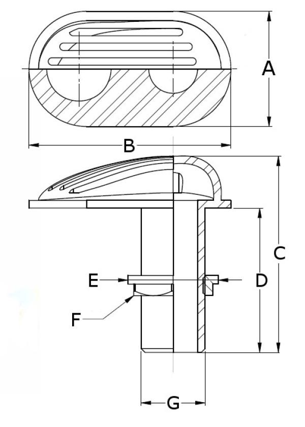G2 Pohjasiivilä messinki