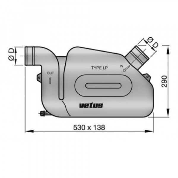 Vesilukko LP50 Ø 50 mm, Super malli Vetus