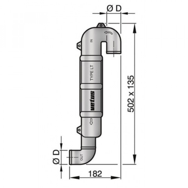 Joutsenkaula LT50 Ø 50 mm