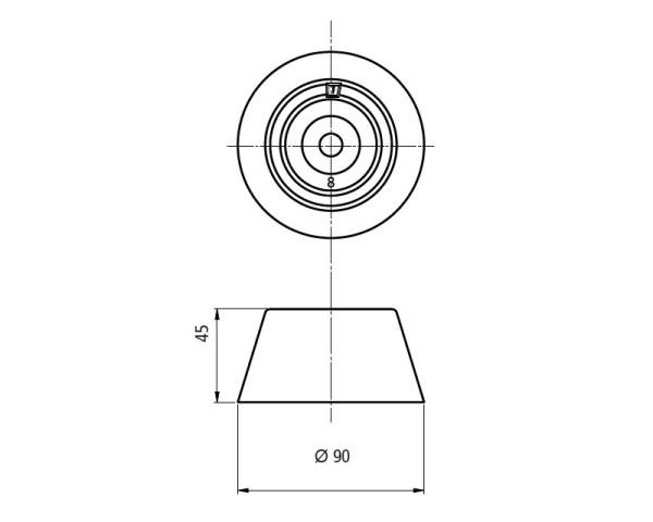 Sinkkianodi, malli 8 (ilman kiinnityssarjaa)